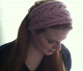Lacey Head/Hair Band Pink Wool Soft Ear Warmer Dread Wrap